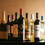 地鶏に相性の良いワインを各種取り揃えております