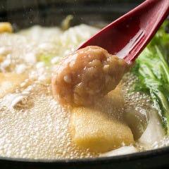 つみれ鍋 (つみれ・紀州地鶏もも肉・本日入荷の鍋野菜)