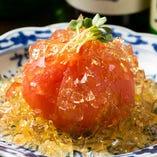 新鮮なトマトを使った逸品