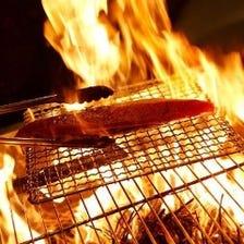 長野県産のわらで焼き上げます。