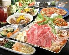 宴会コースで自慢の鍋&肉料理を堪能