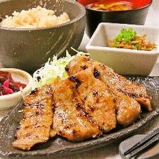 ☆イベリコ豚使用☆網焼き豚とろ定食(ランチ限定)