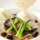 北海道産蝦夷アワビのステーキ、クリームとモリーユ茸のソース