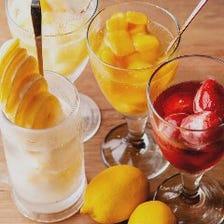 バジルの看板!「凍結果実酒」