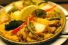 鶏と野菜のパエリア