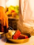 お料理はご注文ごとに厨房で 一品一品手作りしています。