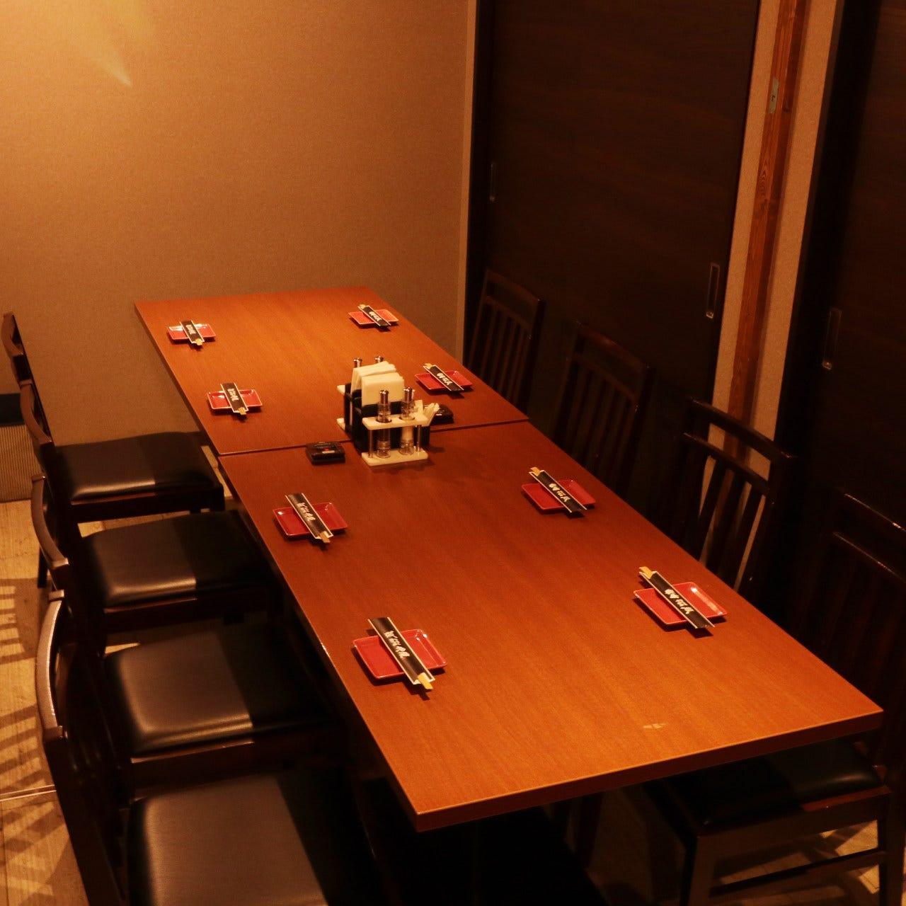 宴会にぴったり個室完備!