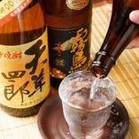 炉端焼きに相性抜群な焼酎・地酒を豊富に取り揃えております♪