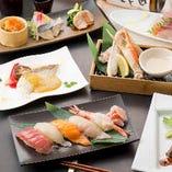 和牛しゃぶしゃぶや寿司も味わえる宴会コースは飲み放付き!