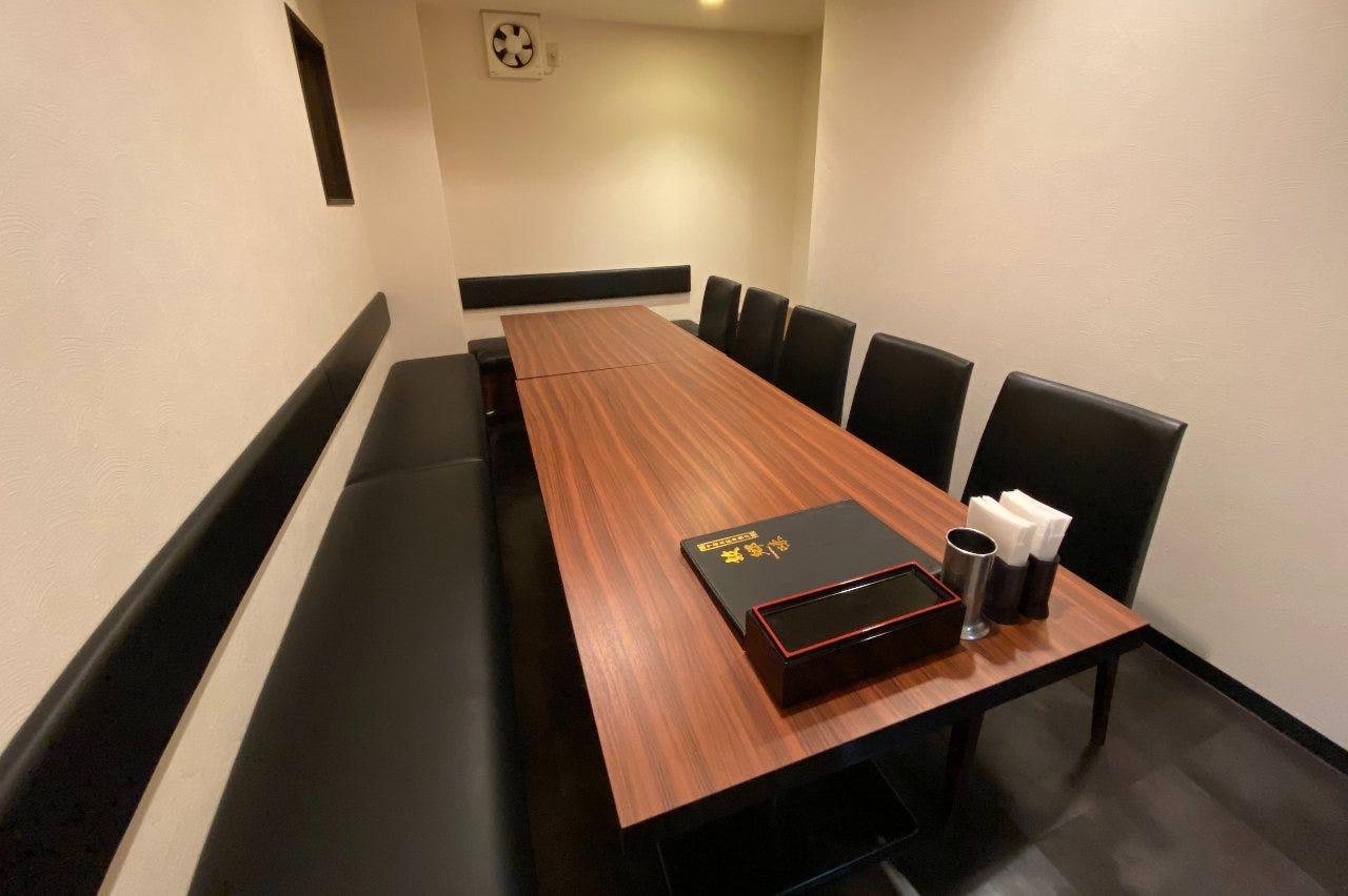 接待や会社のご宴会におすすめ 落ち着いた個室空間