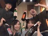 立川で 日本酒飲むなら 狸穴だ!(スタッフも勉強中)