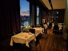 夜景の望める、レストランフロア