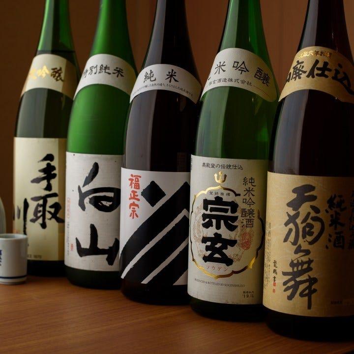 地元石川の地酒を厳選入荷しています