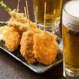 【姉妹店:とんぺい上大岡】自慢の串カツとビールの相性抜群♪