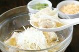 冷製スープ餃子