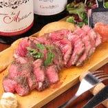 ミディアムレアで仕上げジューシーで美味しい牛肉グリル!