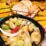 つぶ貝と春野菜のアヒージョ