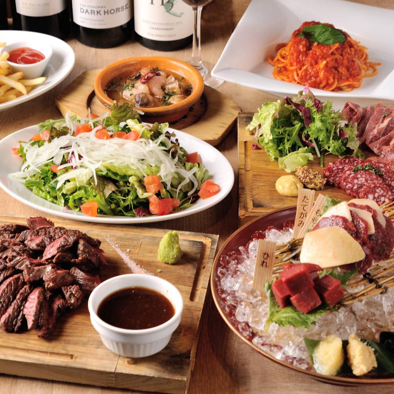 肉料理コースは全3種類。歓迎会など各種宴会におすすめです!
