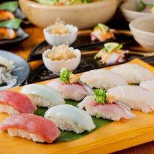 寿司を堪能出来る宴会コース