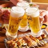 旬のお料理によく合う銘酒を種類豊富にご用意しております。