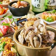 広島名物・牡蠣や旬の素材揃い踏み