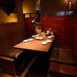 【2階ボックス席】半個室感覚◎ご家族でのお食事や少人数宴会に(2~8名様)