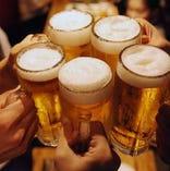 ≪お酒好き必見≫!飲み放題付き宴会コース3,980円〜!!
