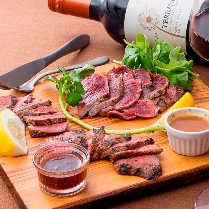 ジビエ肉(馬・鹿)をワインと日本酒で乾杯!