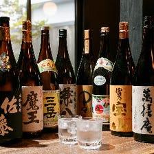 種類豊富な日本酒&焼酎は酒好き必見