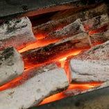 国産の高級備長炭でじっくり焼き上げ、素材の旨みを逃しません