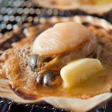 ホタテの淡路島産バター醤油焼き