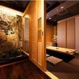 和みを大事にした完全個室の和空間。団体様の個室もございます♪