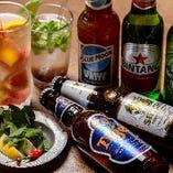 10種のビールやフルーツたっぷりごろごろ生サワーもOK! 豪華飲み放題付コース