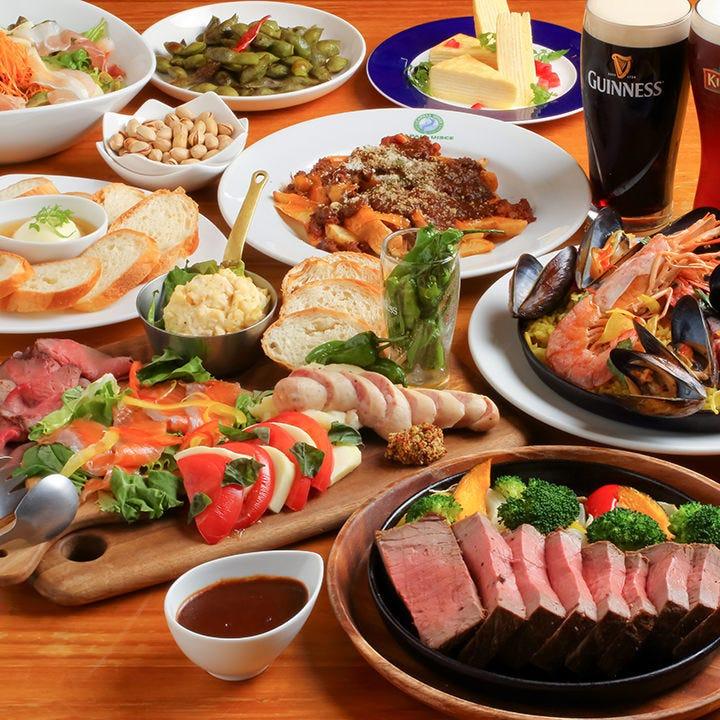 ビールに◎!肉とパエリアのコース