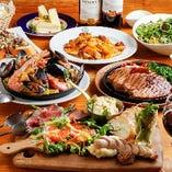 『ダブリンコース』海鮮たっぷりパエリア付!豚ステーキ、季節オードブル5種も食べられる全8品+飲み放題