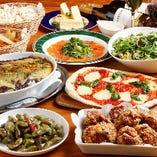 『ゴールウエイコース』名物チャンピオン唐揚げとカルパッチョ、ポップコーンは食べ放題の全8品+飲み放題
