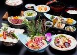 旬の鮮魚をふんだんに使用した懐石コースが充実。ご宴会もOK!