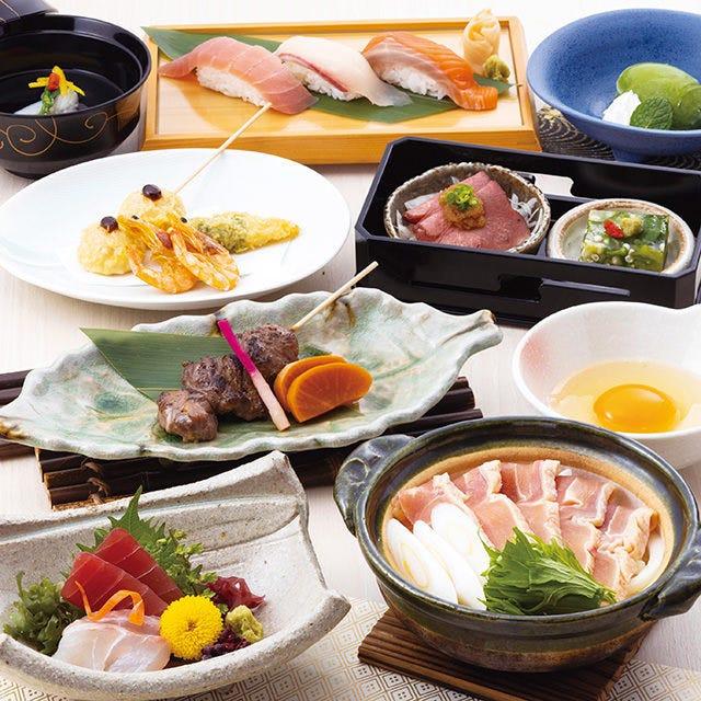 個室確約◆個食盛り宴会【風花コース】2.5時間飲み放題付~個別のお皿にてご提供いたします♪~