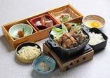 大和肉鶏のすき焼き鍋ご膳