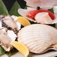新鮮な海鮮も「ろじ」の魅力の一つ