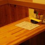 4名様がけのテーブル席