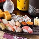 寿司職人歴20年以上、熟練の板前が握る本格的な寿司が楽しめる