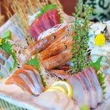 築地と富山県から取り寄せている上質な鮮魚を堪能できる美食空間