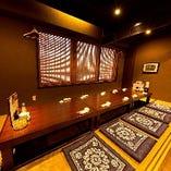 各種宴会・慶事・法事・接待・お祝い等に人気の完全個室