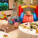 貸切パーティー会場に大型遊具を設置しての【貸切パセランド】