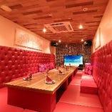 横浜エリア最大のクッションタイプのお部屋です。ママ会・女子会に大変人気のお部屋となっています。