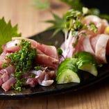 【おすすめ!】鹿児島地鶏 タタキ刺(もも・ムネ)