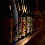 100種以上の九州焼酎を取り揃えています!