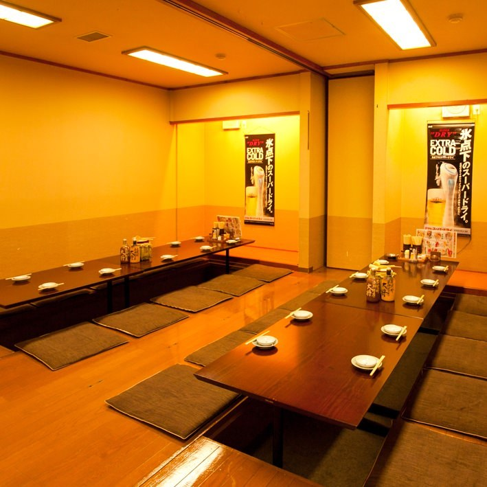 個室宴会は少人数から可能 ゆったり寛ぎの個室は要予約です♪
