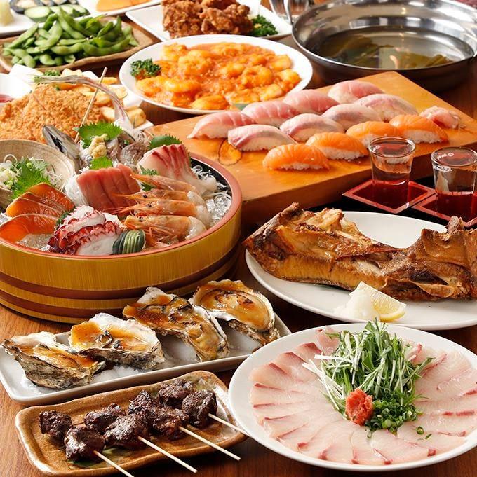 大将のお得な宴会コース 各種ご宴会は旬を堪能する大将で!